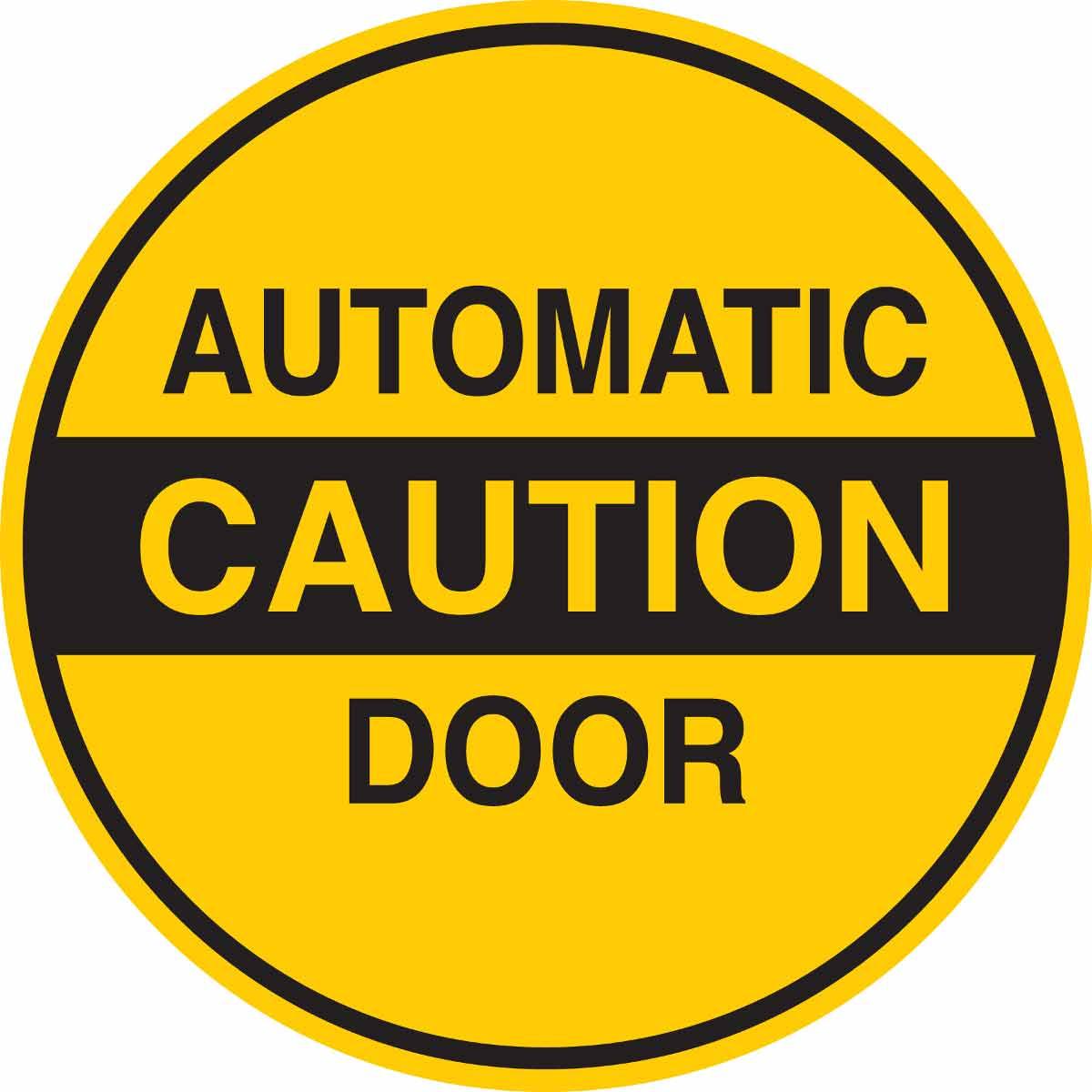 Brady Part 124304 Automatic Caution Door Sign Bradyid Com