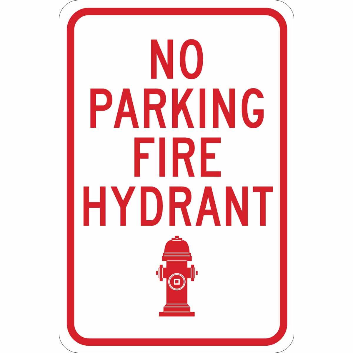 Brady Part 124334 No Parking Fire Hydrant Sign Bradycanada