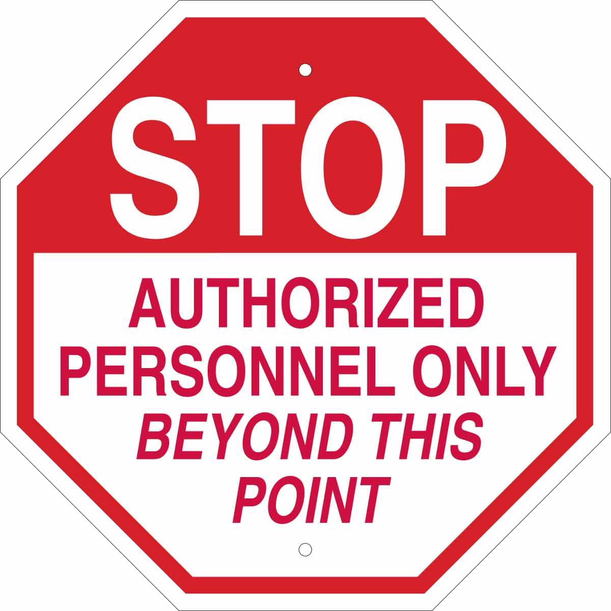 photograph regarding Authorized Personnel Only Sign Printable identify Protect against Approved Staff Basically Past This Fact Signal