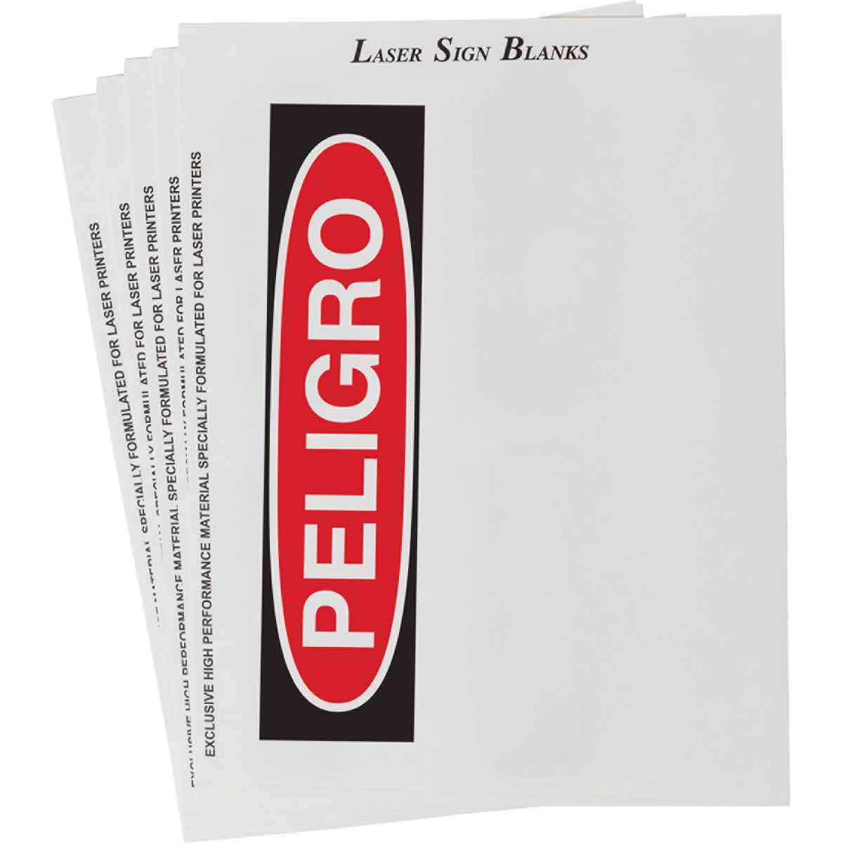 photograph regarding Printable Printers referred to as Laser Printable Polyester PELIGRO Indicator and Label Blanks
