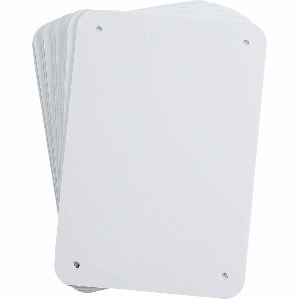 B-401 Plastic White Sign Blanks Pack of 10 Brady 13620 6.25 Width x 4.25 Height