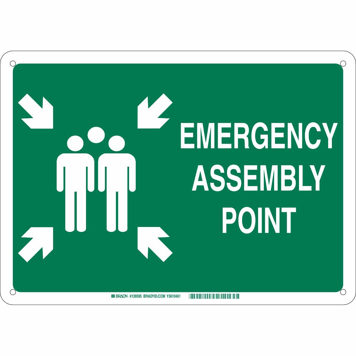 Brady Part 139597 Emergency Assembly Point Sign Custom Flame Fuse Box Covers