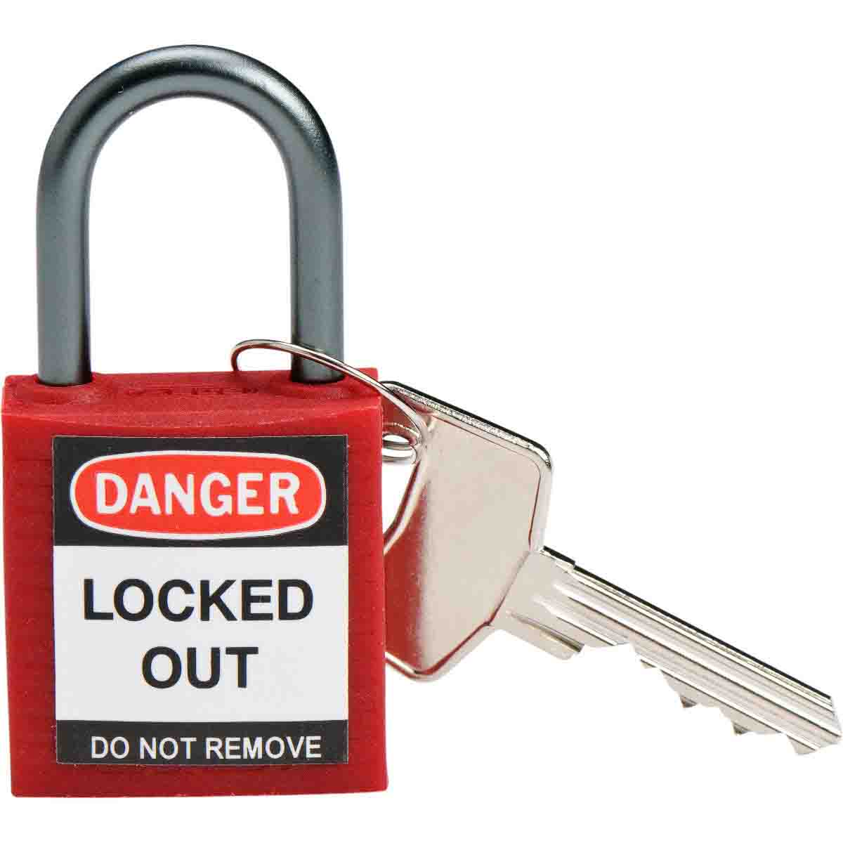 Keyed Different Brady Compact Safety Lock 6 Locks Brady 118931 Brown