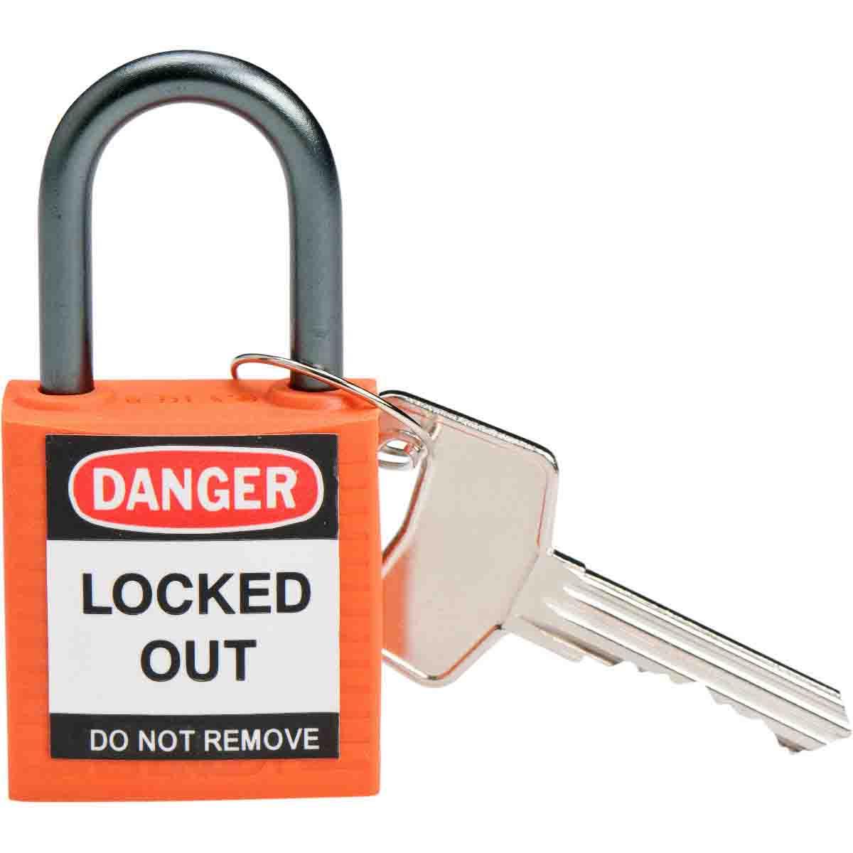 BRADY 143154 Brady Compact SafetyPadlock Orange Kd