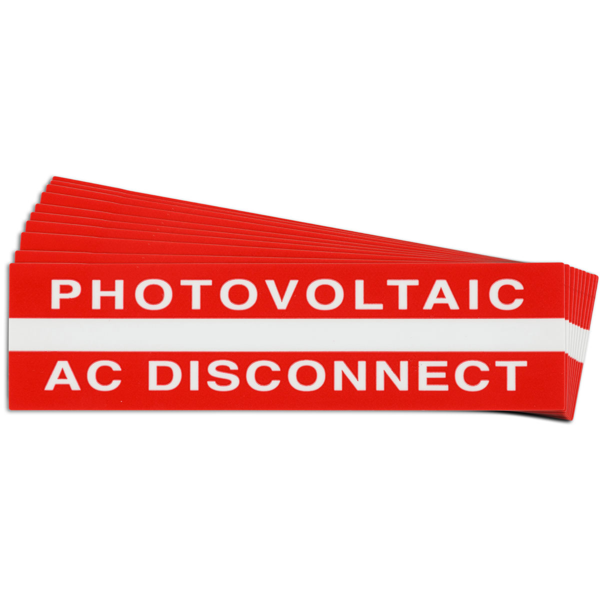 Pre-Printed SOLAR AC DISCONNECT Warning Labels