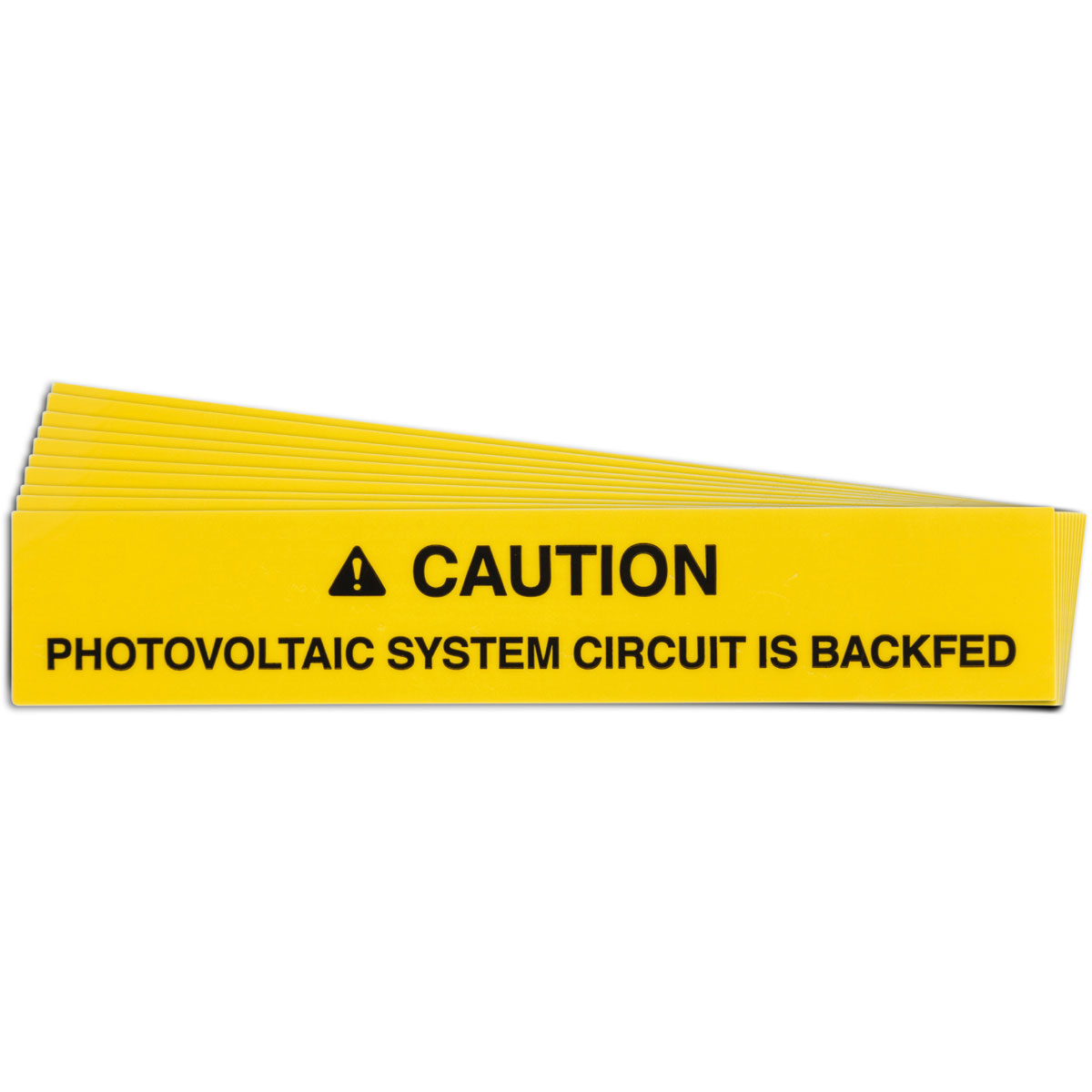 Pre-Printed SOLAR CIRCUIT BACKFED Warning Labels