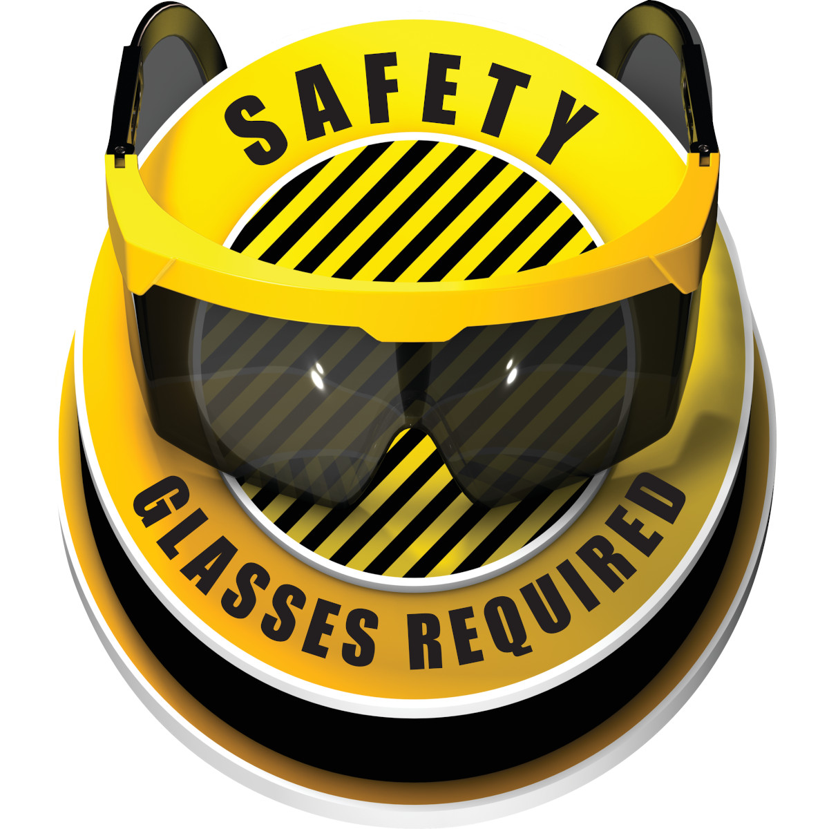Safety Glasses Required 3d Floor Sign Brady Part 150167 Brady Bradyid Com