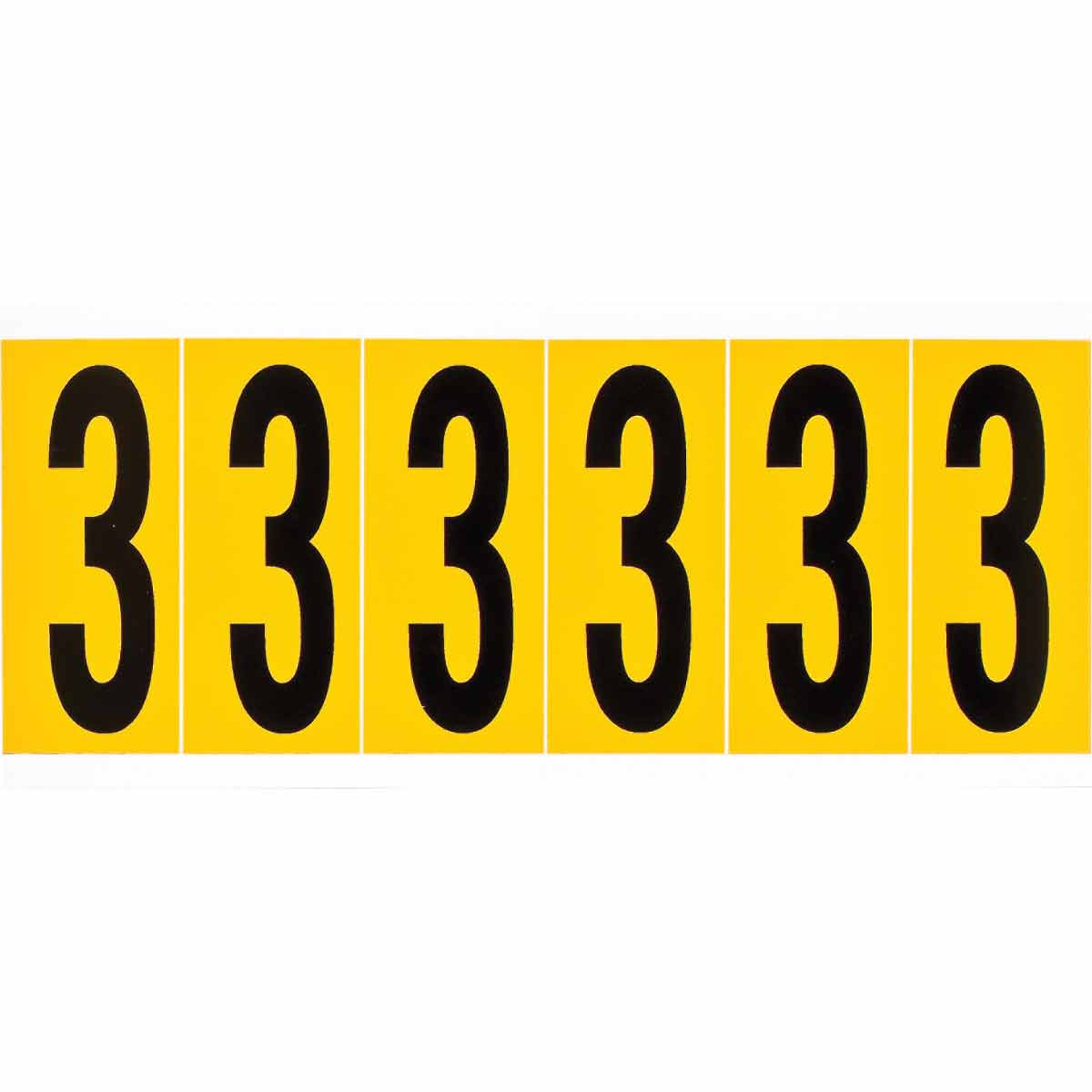 BRADY 1550-3 15 Series Number &Letter Card