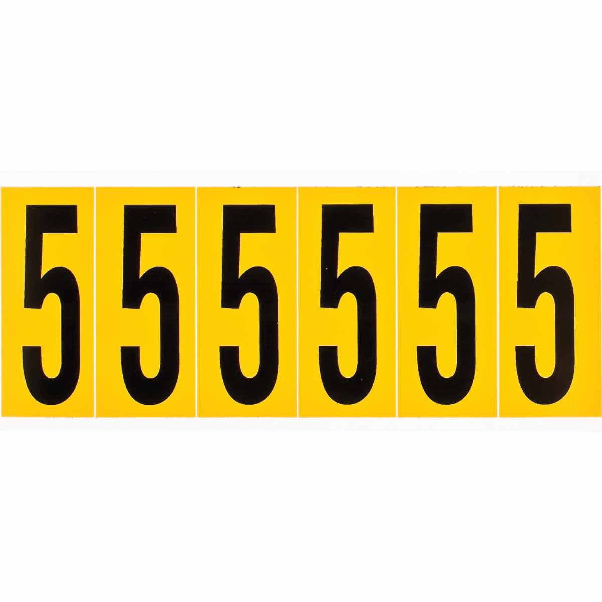 BRADY 1550-5 15 Series Number &Letter Card