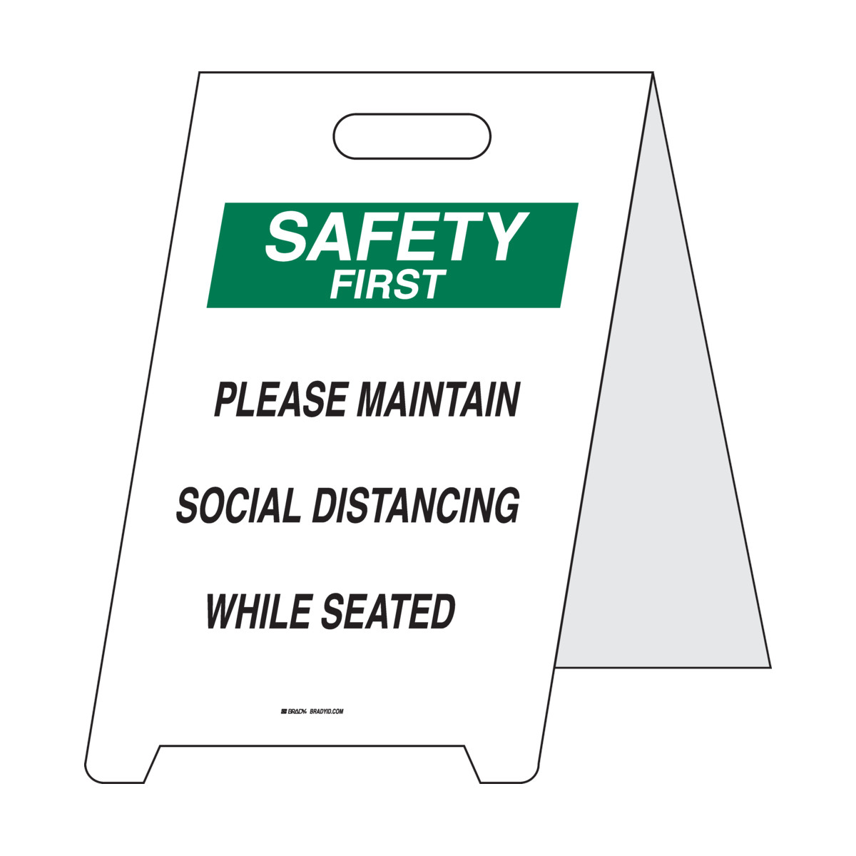 """""""Please Maintain Social Distancing While Seated Floor Sign   """""""