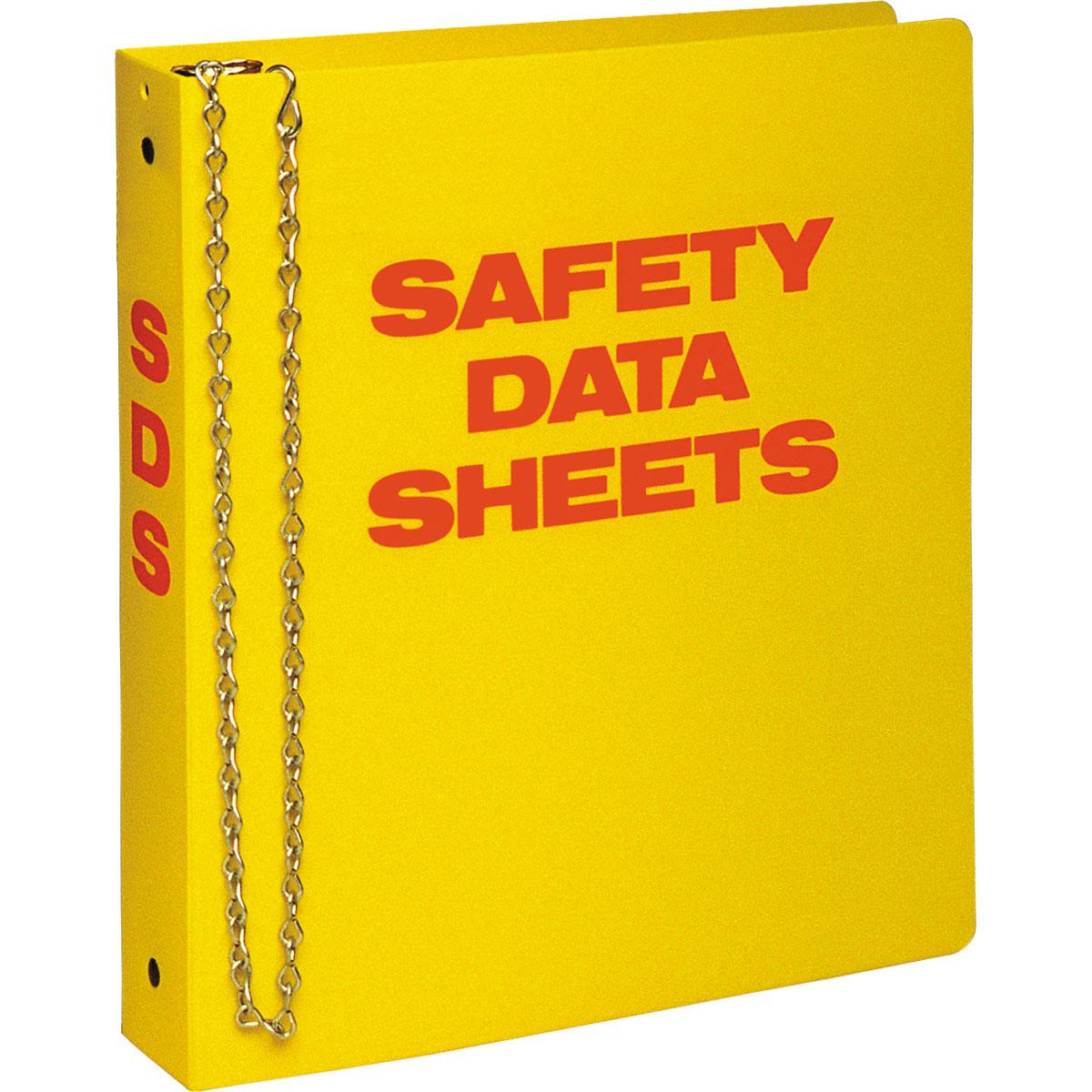 "OSHA Right To Know  3/"" SDS Binder Formally MSDS Binder"
