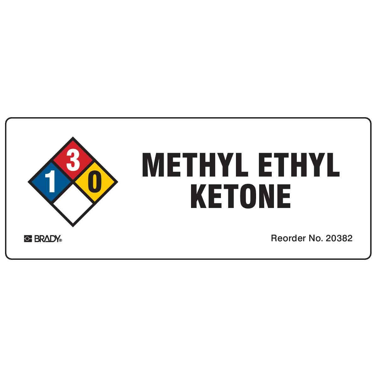 Methyl Ethyl Ketone NFPA Labels