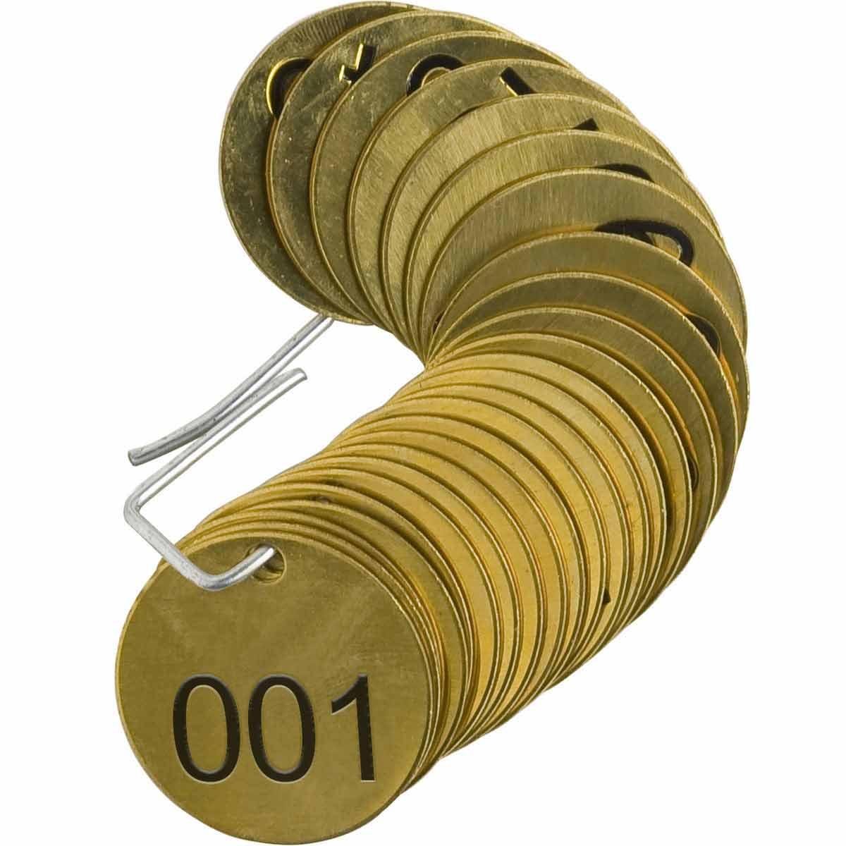BRADY 23200 Stamped Brass Valve Tag