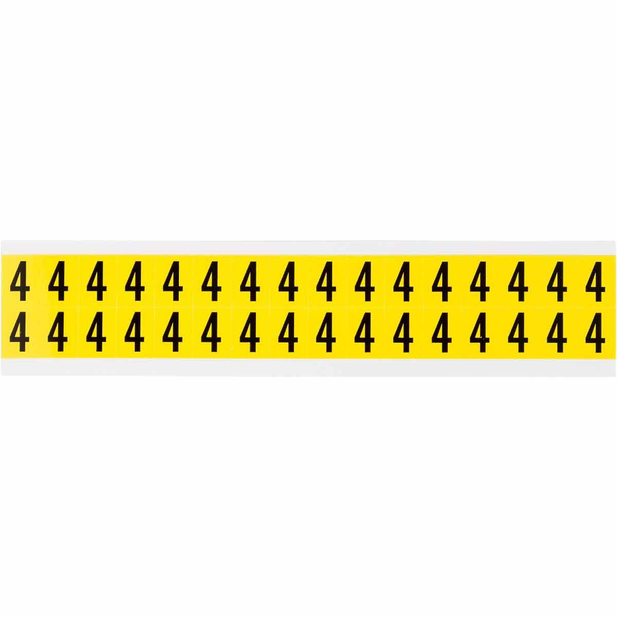 """BRADY 3420-4 Label,34Series,0.625""""H,Bk/Yw,4,1 EA"""