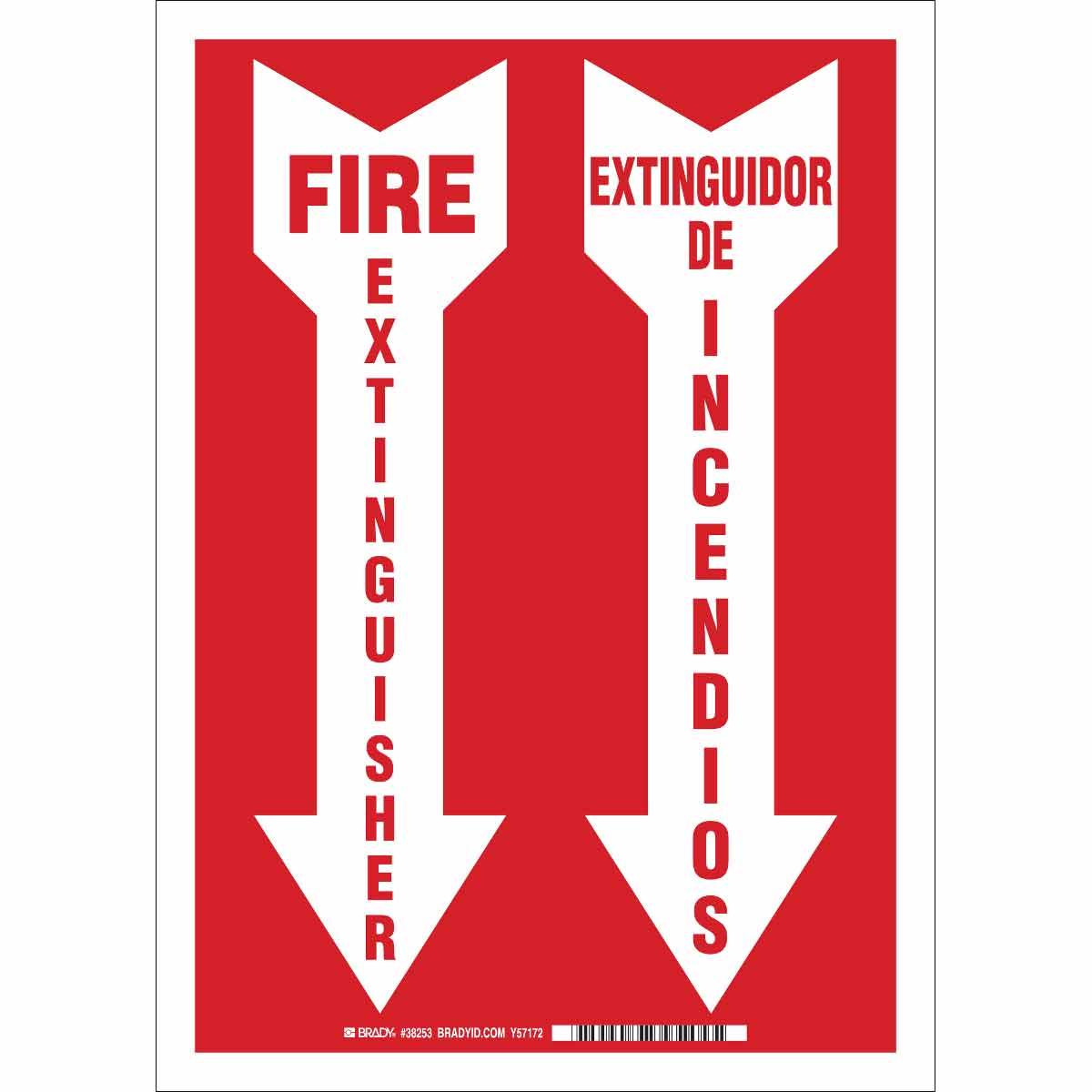 BRADY 38756 BILING/FIRE EXIT.(LEG.W