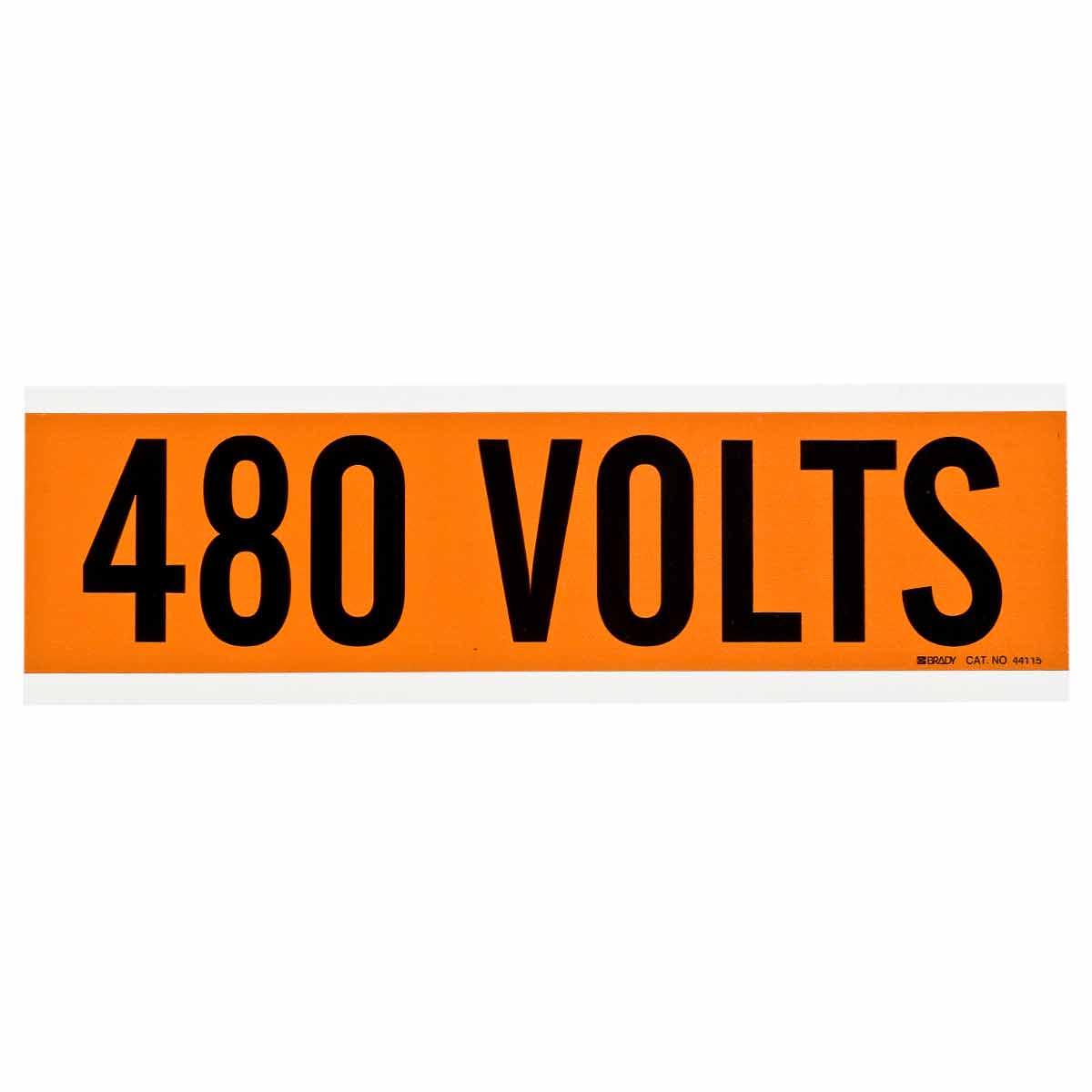 BRADY 44115 Conduit & VoltageMarker 480V
