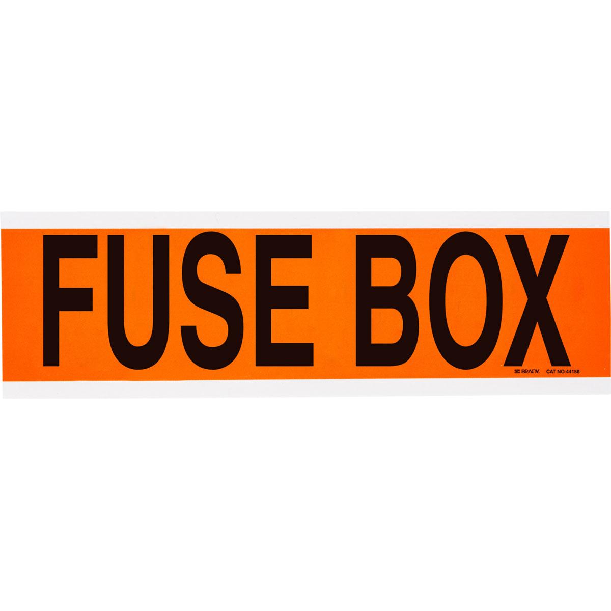 brady part 44158 fuse box label bradyid com rh bradyid com fuse box panel labels house fuse box labels