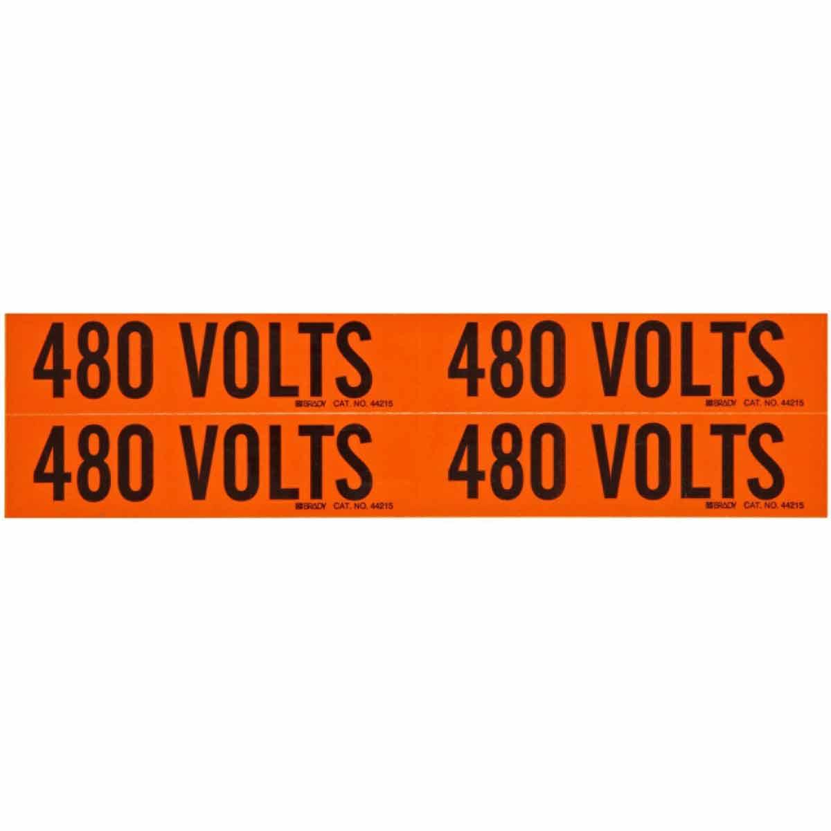 BRADY 44215 Conduit & VoltageMarker 480 Volts