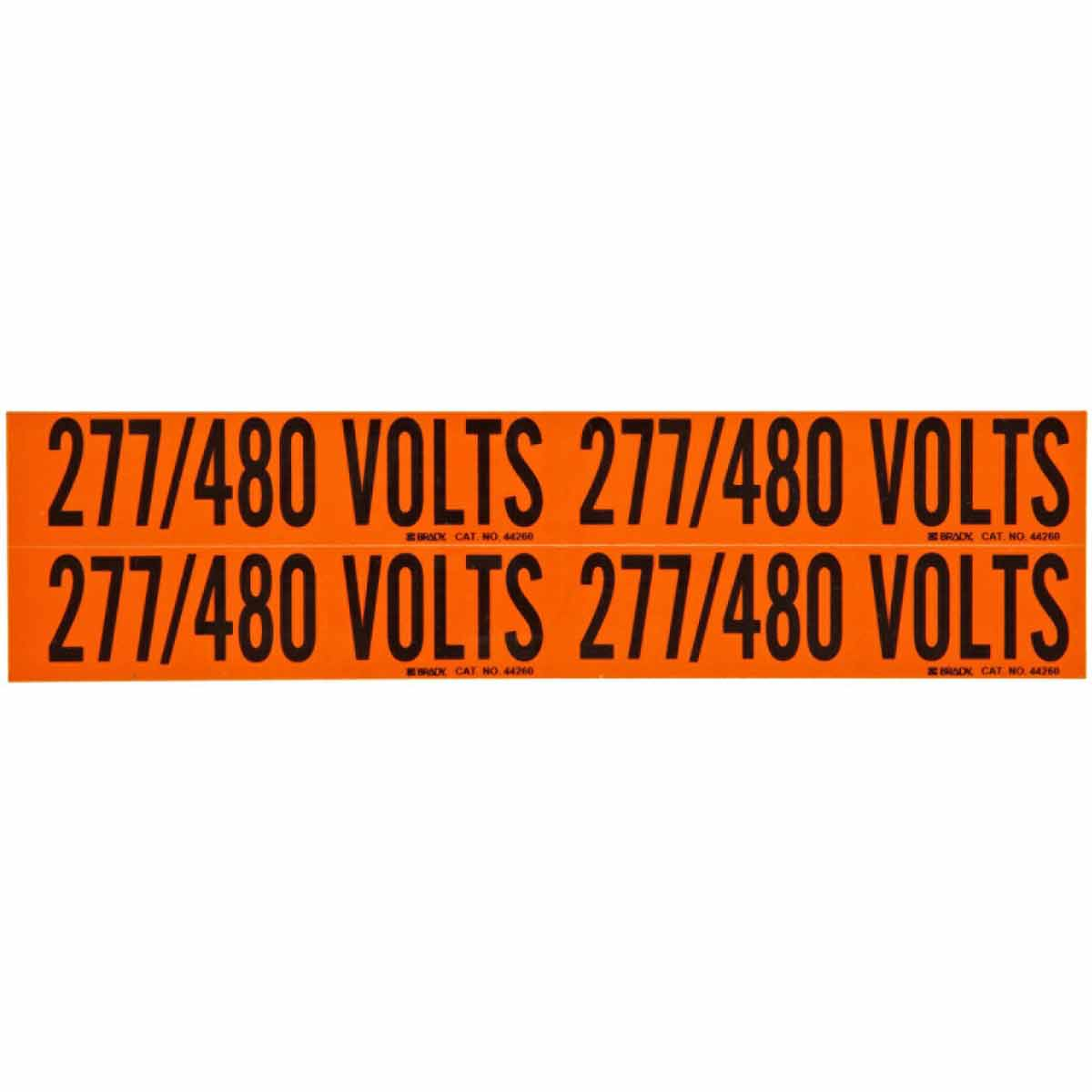 BRADY 44260 Conduit & VoltageMarker 277/480 Volts