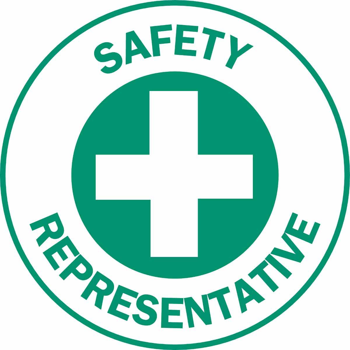 SAFETY REPRESENTATIVE Hard Hat Labels
