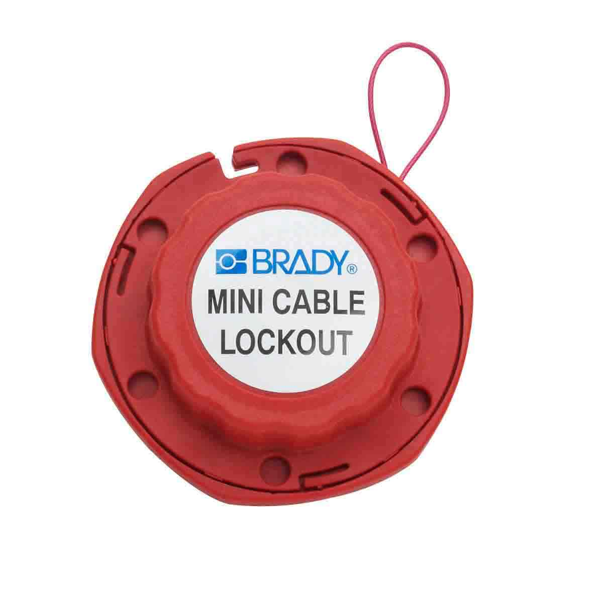 MINI CABLE LOCKOUT W/METAL CABLE