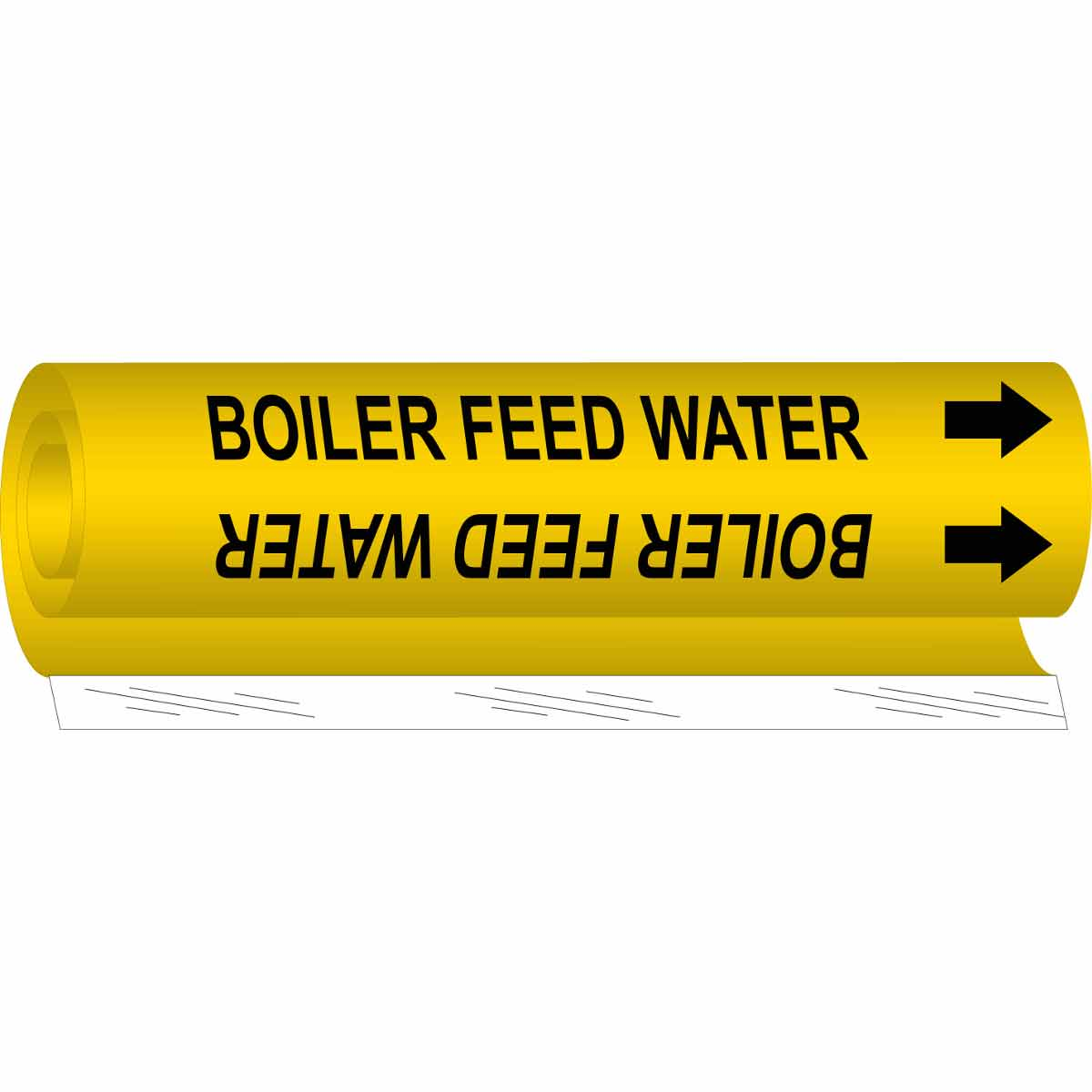 Wrap Around Pipe Marker Legend Boiler Feed Water Legend Boiler Feed Water Brady 5637-Ii High Performance