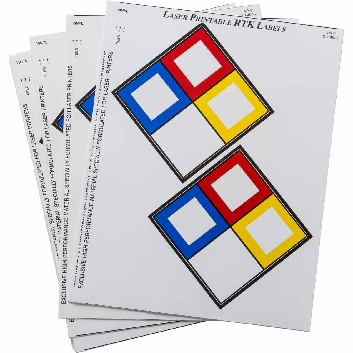 Laser Printable Vinyl Right-to-Know Label Blanks
