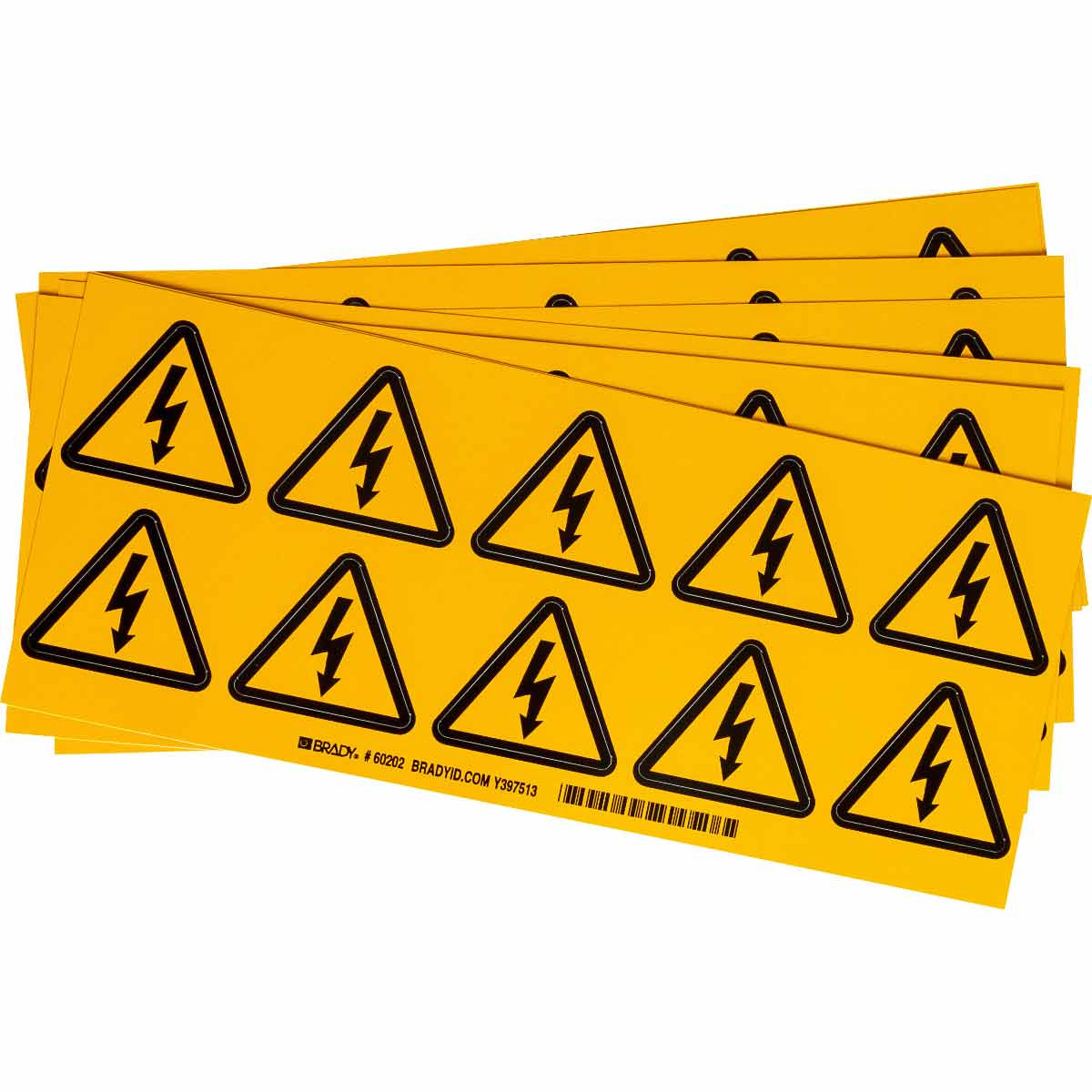 BRADY 60202 WARNING LABELS(PACKAGE OF 10)