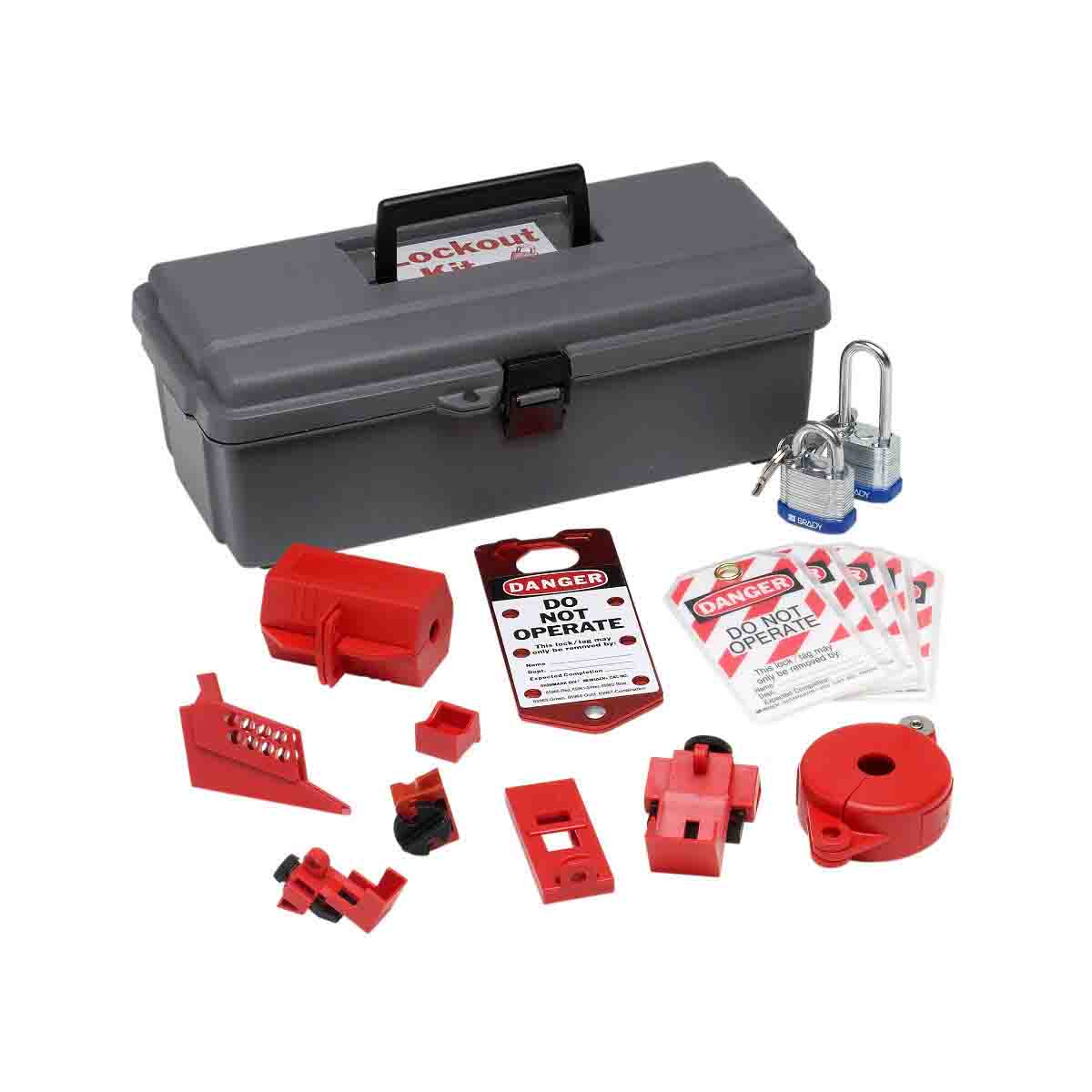 BRADY 65289 Lockout Tool Box WithComponents