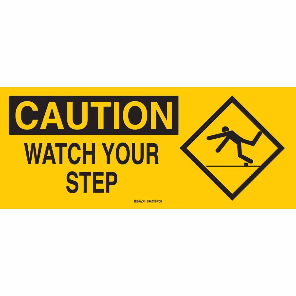 photo regarding Printable Watch Your Step Sign named Brady Section: 69551 Warning Check out Your Action Signal