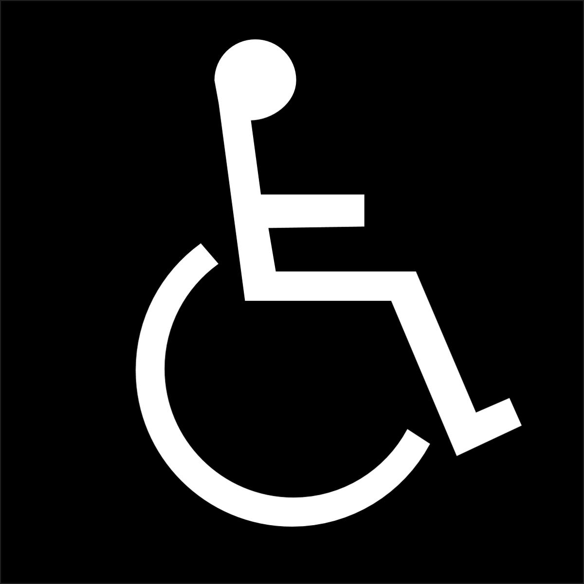 brady part 70123 braille ada handicap sign bradyid com rh bradyid com Wheelchair Logo Design Handicap Logo Vector