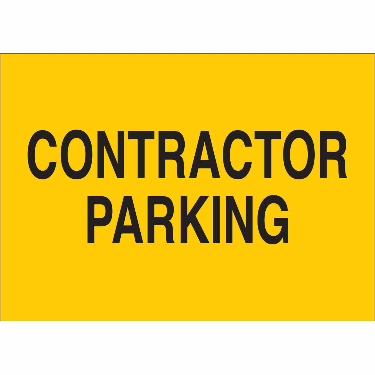 Contractor Parking Sign