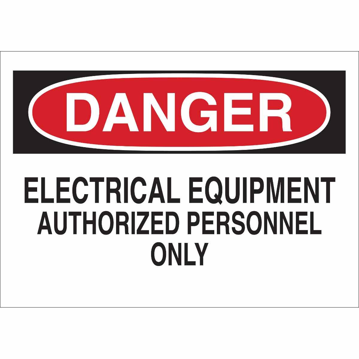 BRADY 22094 PLAST ELEC HAZARD SIGN