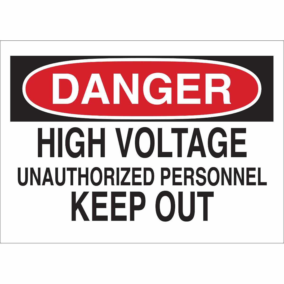 BRADY 22106 Electrical Hazard Sign
