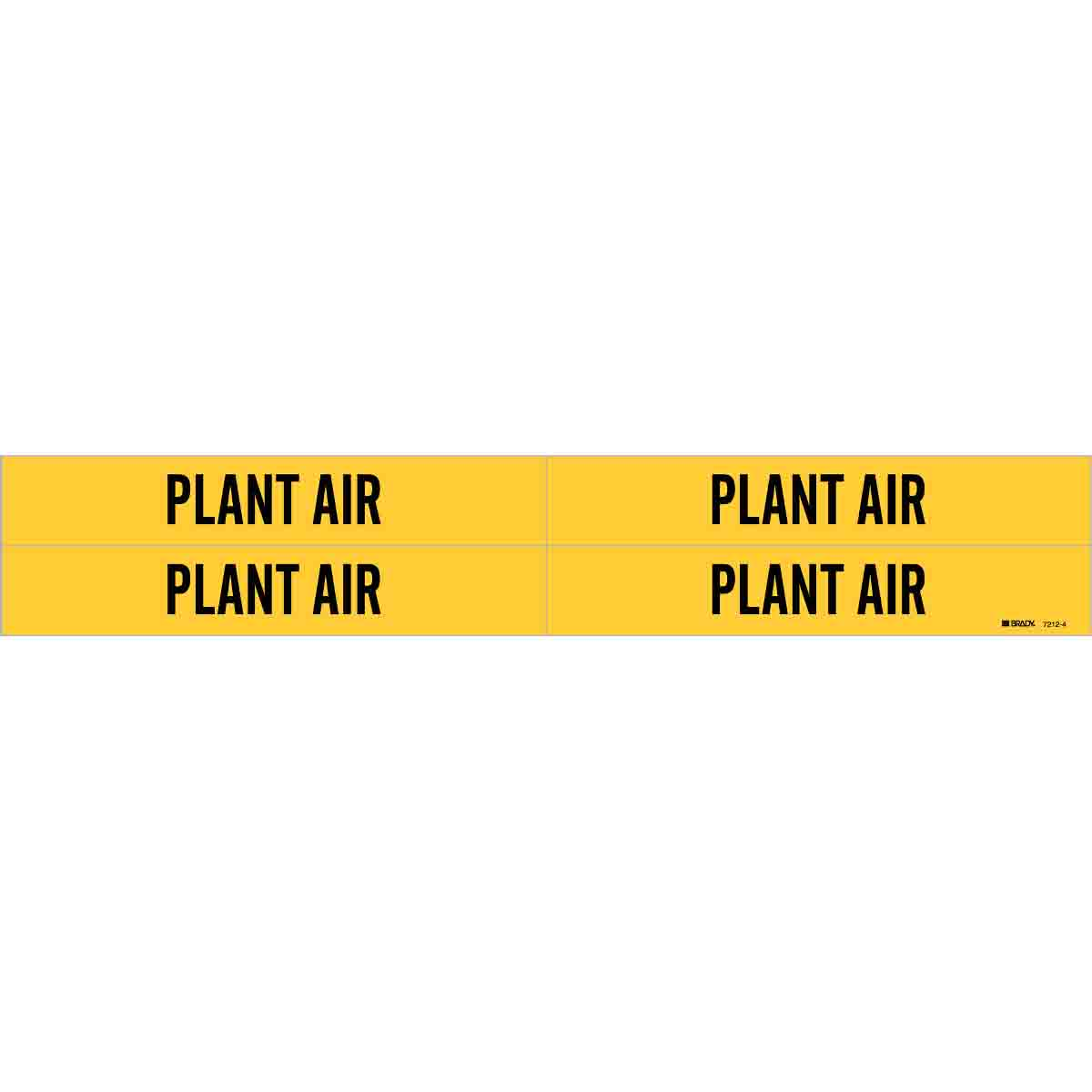 Brady Part 7212 4 93301 Plant Air Pipe Marker