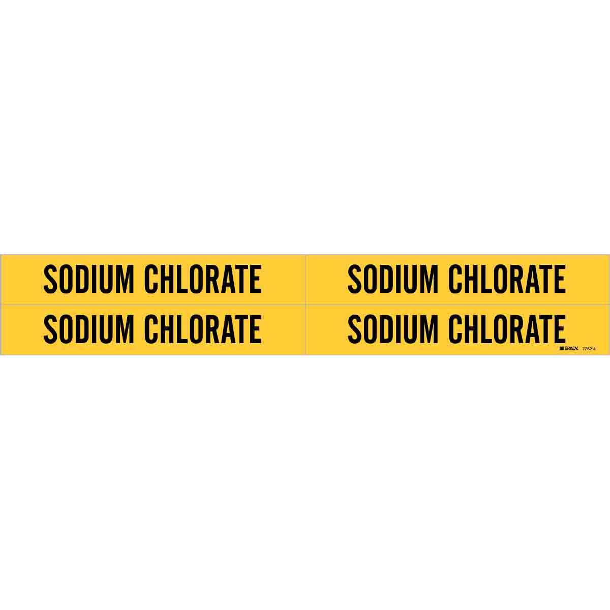 Brady Part 7262 4 91762 Sodium Chlorate Pipe Marker