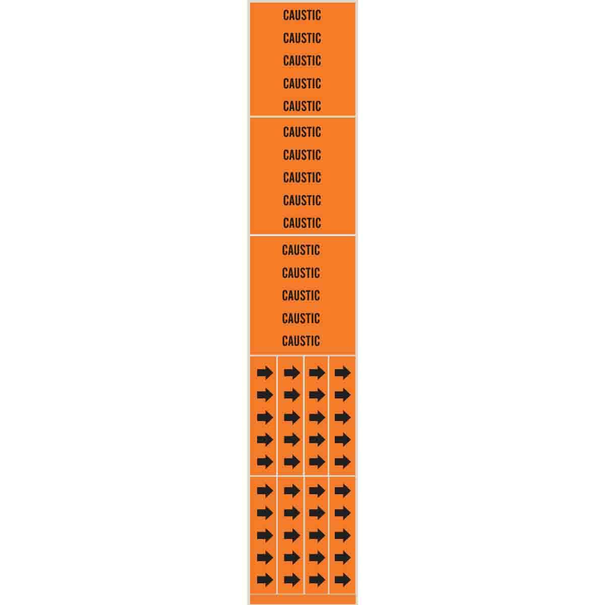 Black On Yellow Pressure Sensitive Vinyl Legend Drain 1 1//8 Height X 7 Width Brady 7091-4 Self-Sticking Vinyl Pipe Marker B-946