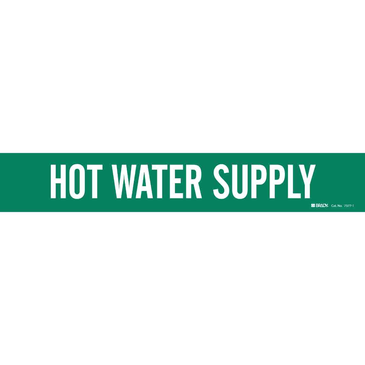 Brady Part 7377 1 109259 Hot Water Supply Pipe Marker