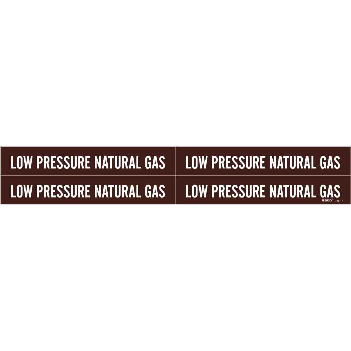 Brady Part 7387 4 109394 Low Pressure Natural Gas