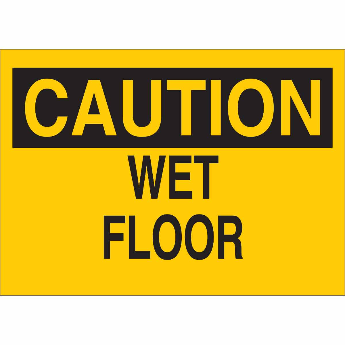 english products corrugated floor plastic sign or spanish stock caution wet sticker