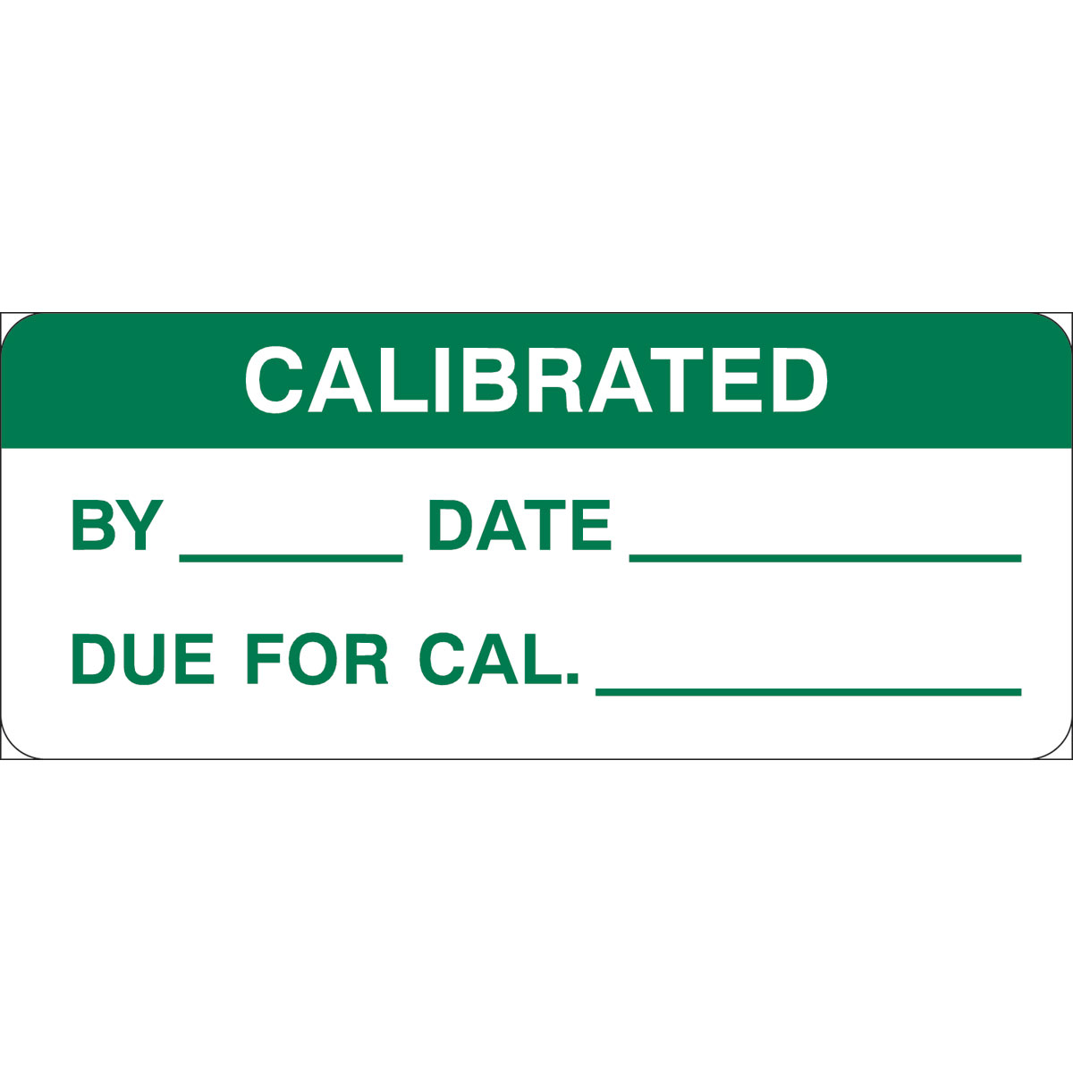 Brady Part: 82592 | CALIBRATED BY: DATE: DUE Write-on Inspection ...
