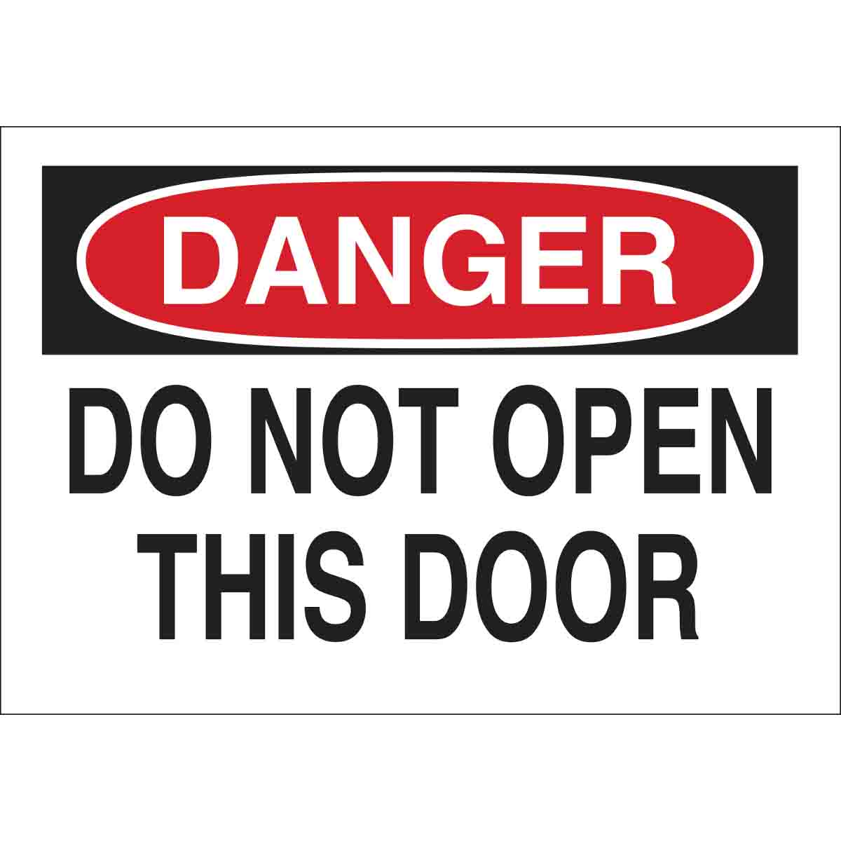 Do not open door