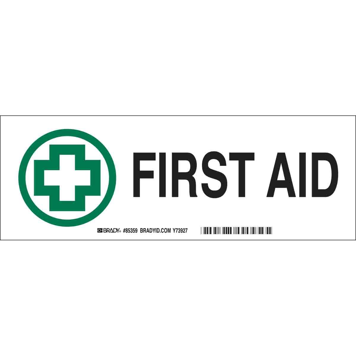 BRADY 85359 FIRST AID STICKERS(S209931)
