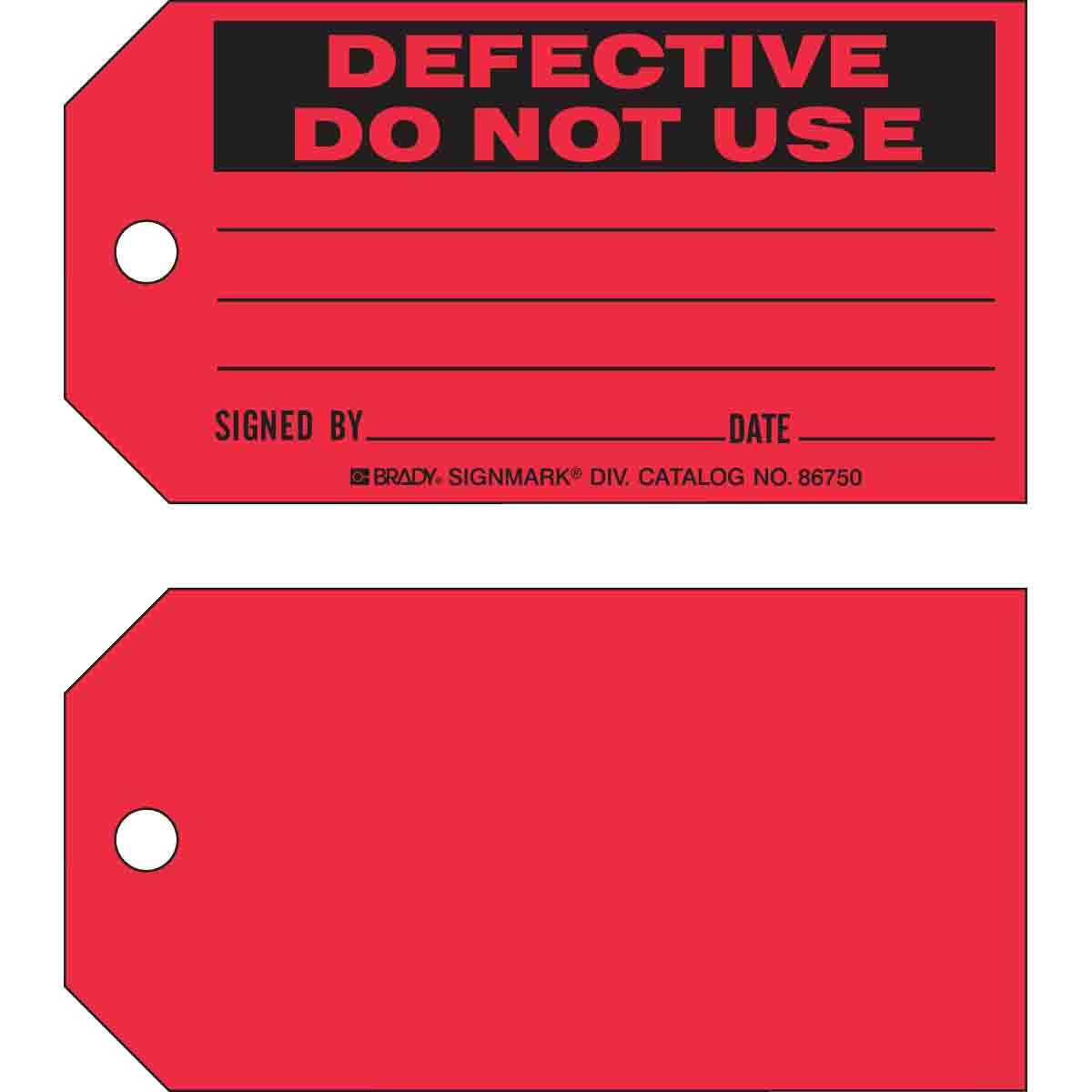 BRADY 86750 5-3/4X3 CARDSTOCK TAG