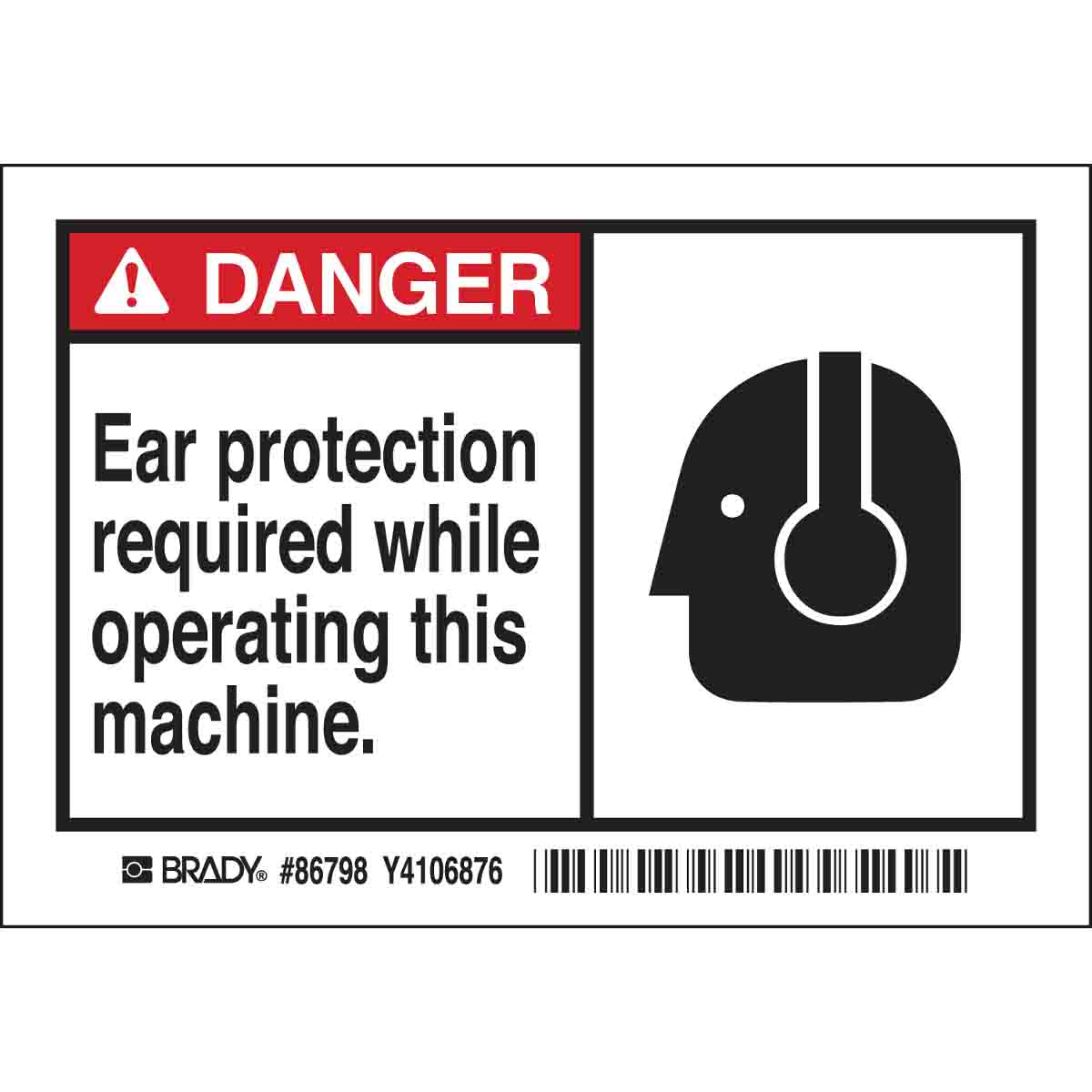 BRADY 86798 3-1/2X5 EQUIPMENT LABEL