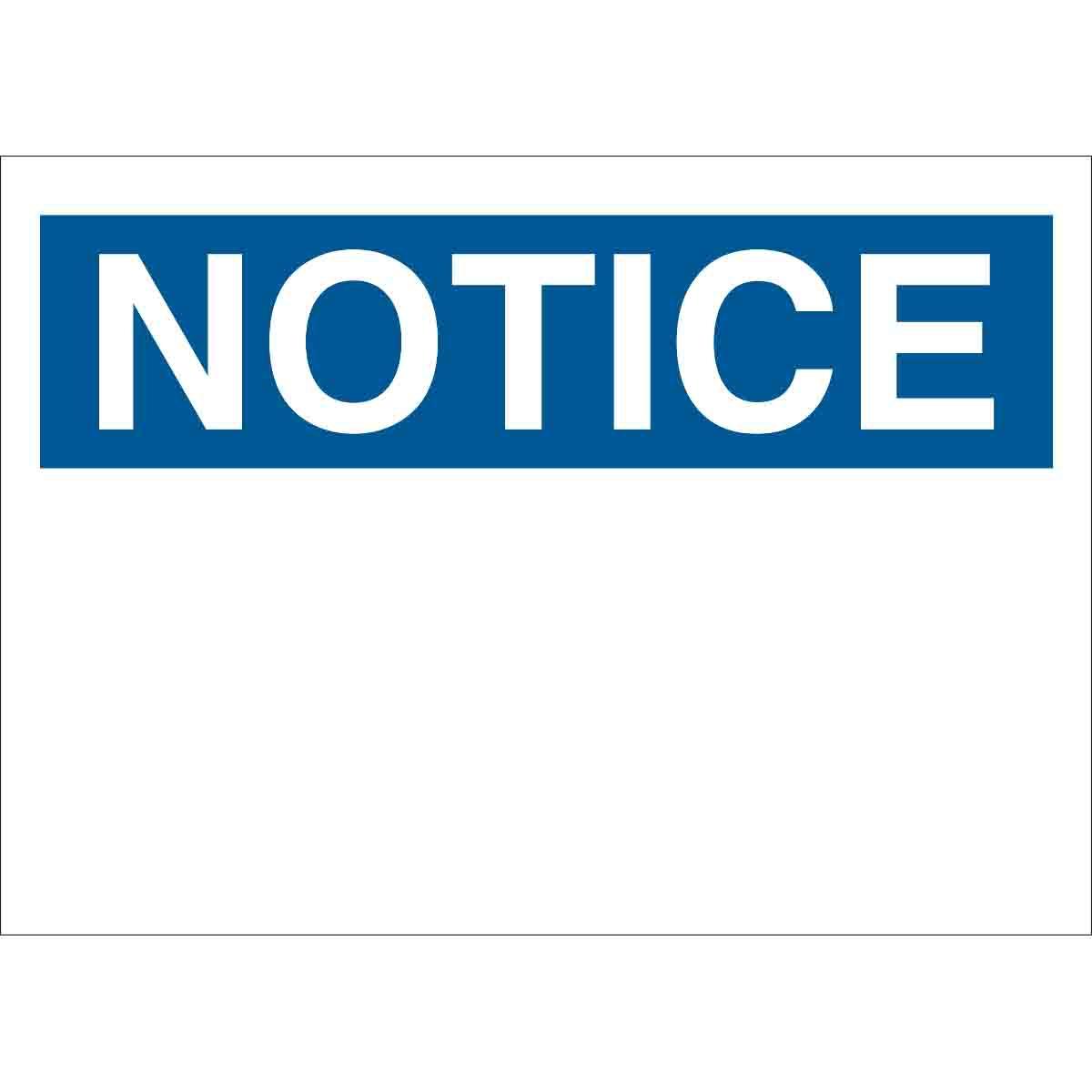 Brady Part 118234 Notice Sign Bradyid Com