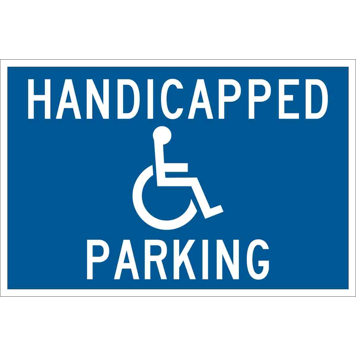 It is an image of Printable Handicap Signs with outline