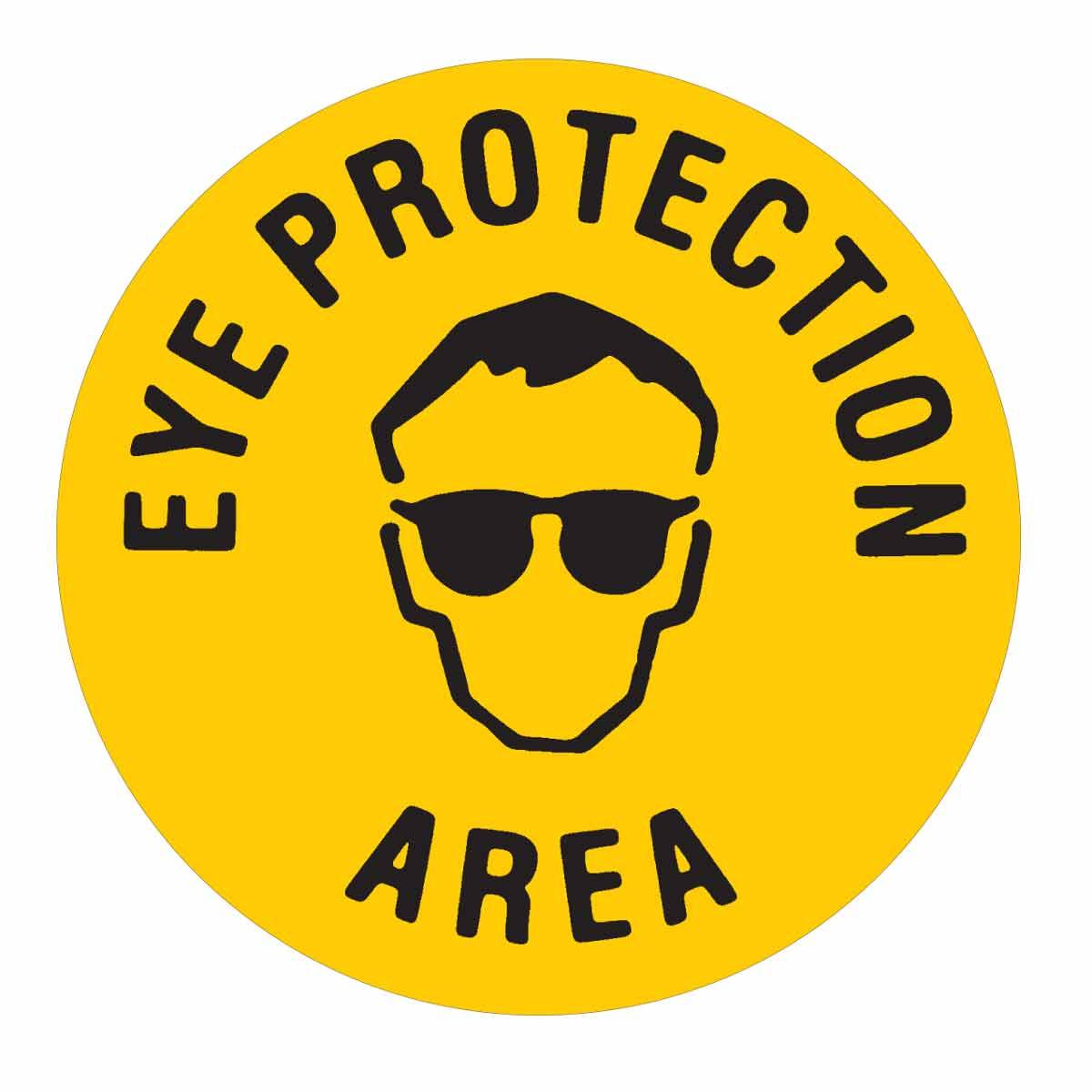 Eye Protection Area Anti Slip Floor Sign Brady Part 92406 Brady Bradyid Com