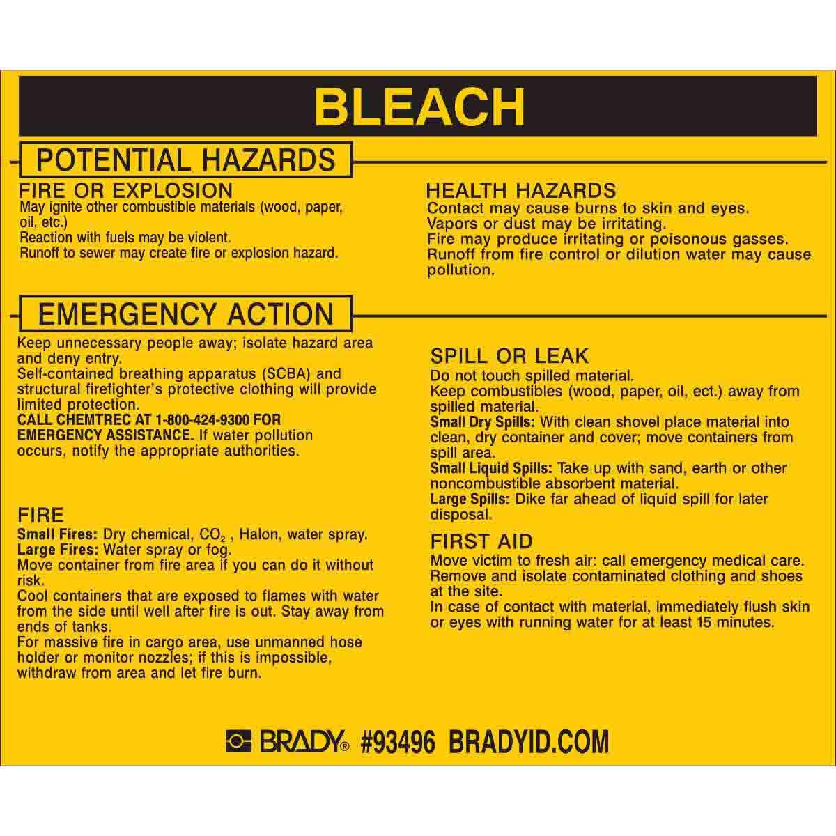 BLEACH Labels
