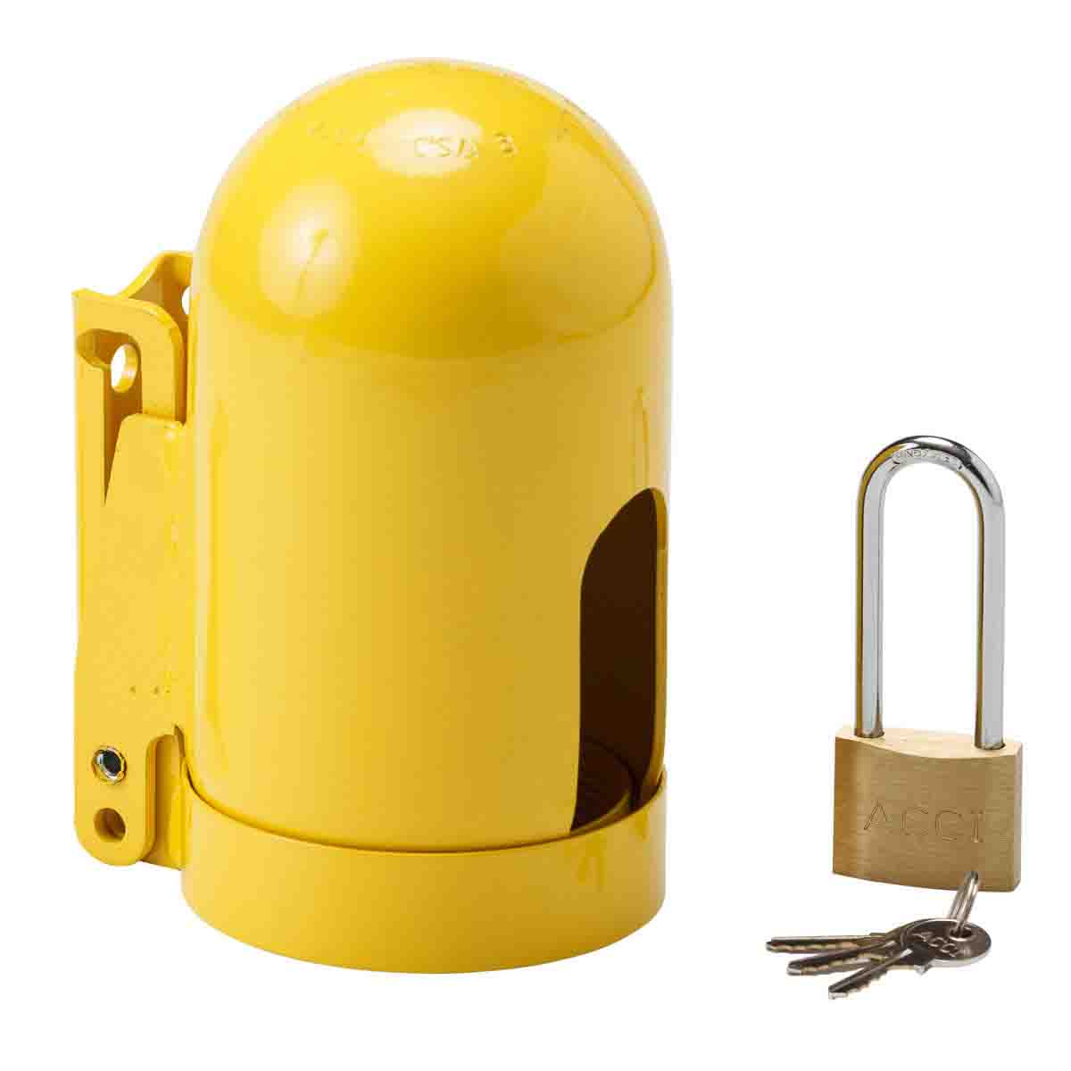 Snap Cap Gas Cylinder Lockout Device